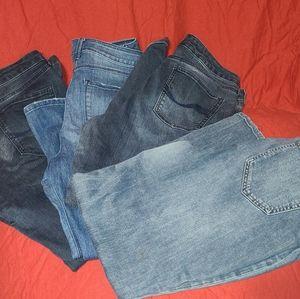 4 pairs of jeans dkny, badolino,